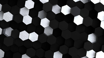 Abstract technological hexagonal background