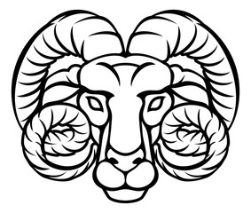 Aries Zodiac Sign Ram