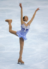 Japan's Mao Asada performs during the Ladies Short Program event in the Bompard Trophy skating event at Bercy in Paris