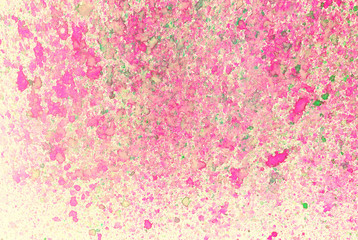 Huge Hand Painted Watercolor Splash Background - Pink and green