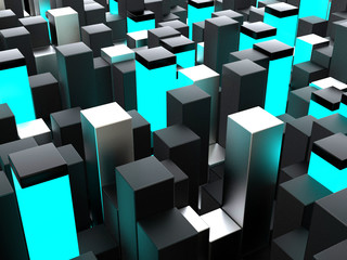 Abstract futuristic cubes shape background