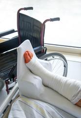 Frisch operiert im Krankenhaus