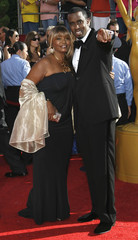 Rapper Combs escorts his mother Janice to 60th annual Primetime Emmy Awards in Los Angeles