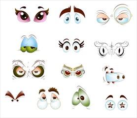 Cartoon heroes' eyes