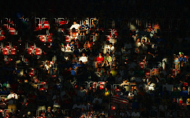 Fans wait for the start of the Group E World Cup 2006 soccer match between Italy and the U.S. in Kaiserslautern