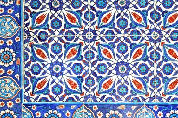 Printed kitchen splashbacks Moroccan Tiles Ancient Ottoman patterned tile composition.