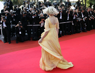 "British actress Mirren arrives for gala screening of film ""Chacun son Cinema"" at 60th Cannes Film Festival"