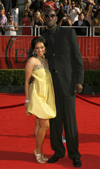 NBA player Kevin Garnett of the Boston Celtics arrives with his wife Brandi at the 2008 ESPY Awards in Los Angeles