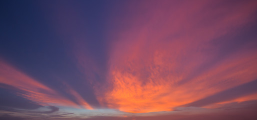 Beautiful sky in the twilight time