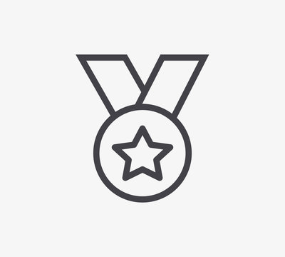 Medal Line Icon. Editable Stroke.