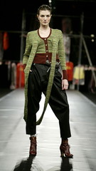 A model presents this creation by British designer Vivienne Westwood during her 2004-2005 Autumn/Win..