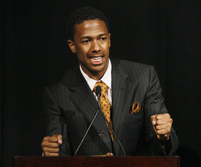 Nick Cannon accepts the Creative Maverick award during the 14th annual Diversity awards in Century City