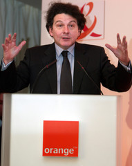 ORANGE CHAIRMAN THIERRY BRETON SPEAKS AT 3GSM WORLD CONGRESS IN CANNES.