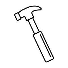 hammer construction tool isolated icon vector illustration design