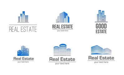 Real estate property logo illustration