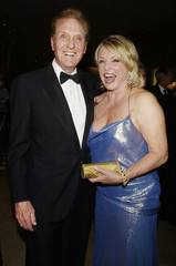 ROBERT STACK AND WIFE ROSEMARY ARRIVE GALA HONORING COLUMNIST ARMYARCHERD.