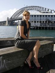 Former British ballerina Darcey Bussell poses for pictures at Sydney Dance Company in central Sydney