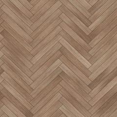 Obraz Seamless wood parquet texture (herringbone brown) - fototapety do salonu