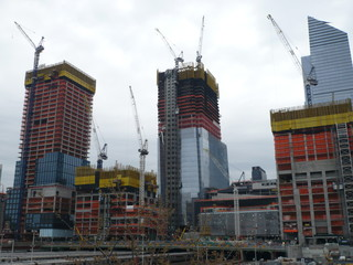 Building skyscrapers of New York