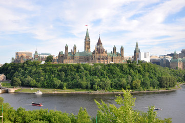 Parliament Buildings and Library, Ottawa, Ontario, Canada.