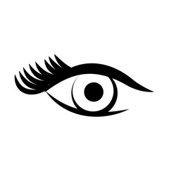sexy female eye icon vector illustration design