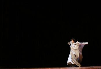 Monaco's soprano Angeles Blancas Gulin performs in Maestranza theatre in Seville.
