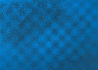 Blue abstract textured background to the point with spots of paint