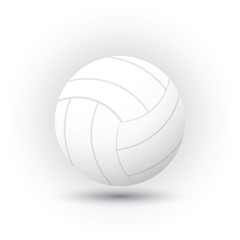 volleyball icons isolated on white background.