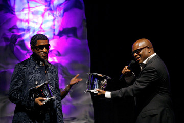 Recording artist and songwriter 'Babyface' and producer Reid thank each other during the annual BMI Urban Awards in New York