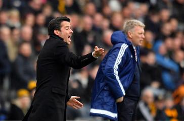 Sunderland manager David Moyes and Hull City manager Marco Silva