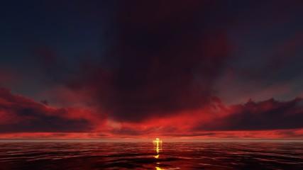 OCEAN RED SUNSET