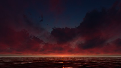 SUN REFLECTIONS ON THE OCEAN