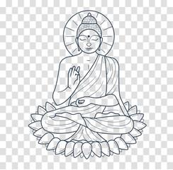 Icon  buddha  silhouette
