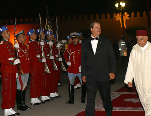 Mexican President arrives at Marrakesh Royal Palace on Friday.