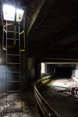 Test track in abandoned Renault factory on Seguin Island