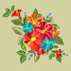 hibiscus floral bouquet