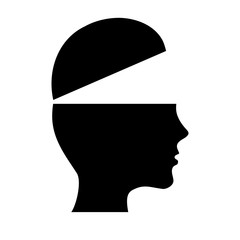 head profile icon over white background. vector illustration
