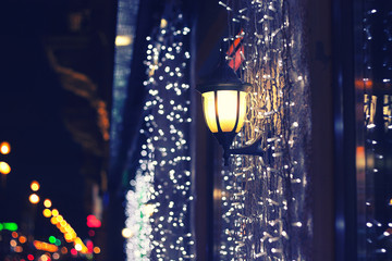 night city in the christmas time