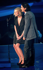 Orlando Bloom and Kirsten Dunst present Best Rock Video award at the 2005 MTV Video Music Awards in Miami.