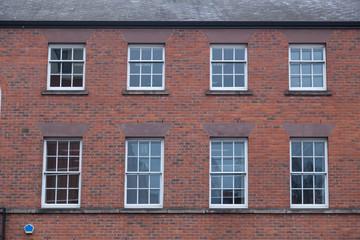 Brickwall facade in england