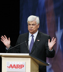 U.S. Senator and Democratic presidential candidate Dodd speaks during a candidates' debate on health care and financial security issues