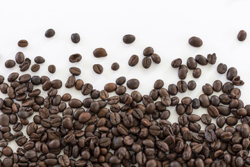 Image isolate coffee beans for use as a background.