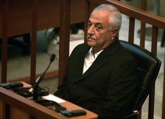 Sabir al-Douri, former director of military intelligence, during the verdict trial session in Baghdad
