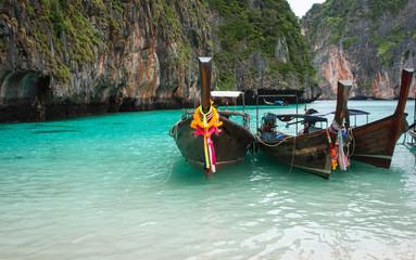Long tail boats, Muslim village, Thailand