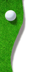 Golf Ball on Edge of Sand Trap With Copy Space