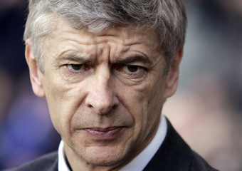 Arsenal manager Wenger looks on during their English Premier League soccer match against Blackburn Rovers at Ewood Park in Blackburn