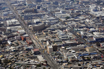 Aerial view of Tijuana, Mexico