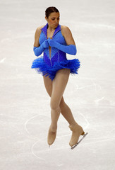 Merovee Ephrem of Monaco performs at the 2009 ISU World Figure Skating Championships in Los Angeles