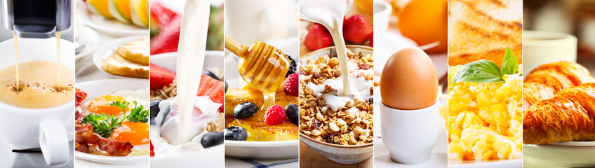collage of healthy breakfast