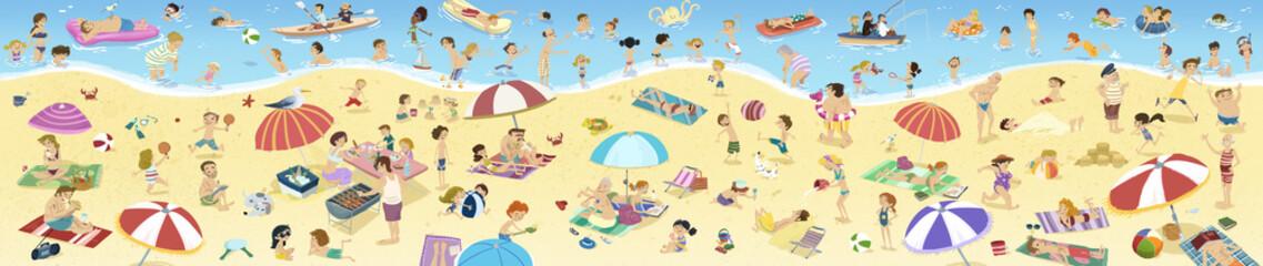 gente en la playa en verano